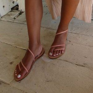 NWOT CoRNETTI EOLIE Blush Suede Leather Sandal 10